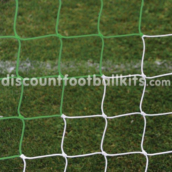 58e79ff2a 24ft x 8ft 3mm Green/White Striped Football Net
