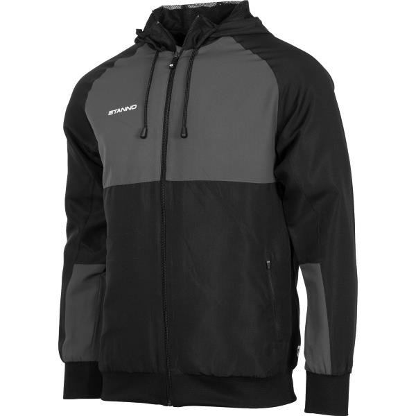 Stanno Centro Hooded Jacket Black/Anthracite