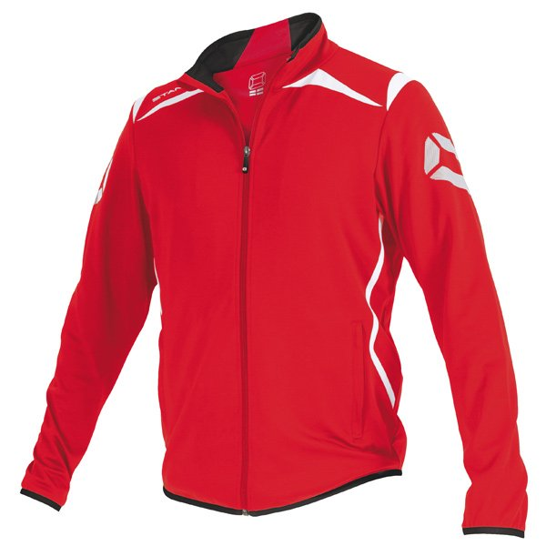 Stanno Forza Red/White Full Zip TTS Top