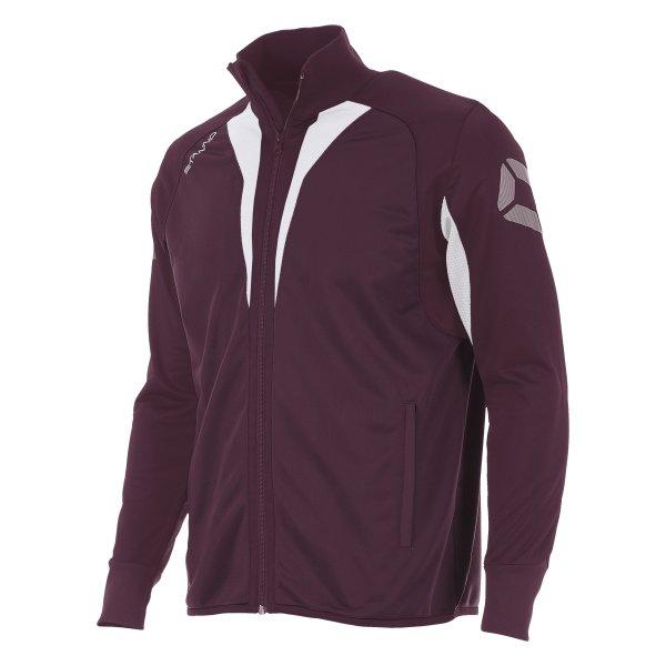 Stanno Riva Full Zip Poly Jacket Maroon/White