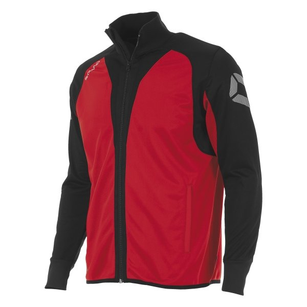 Stanno Riva Full Zip Poly Jacket Red/Black