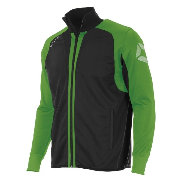 Stanno Riva Full Zip Poly Jacket Black/Bright Green