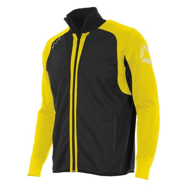 Stanno Riva Full Zip Poly Jacket Black/Yellow