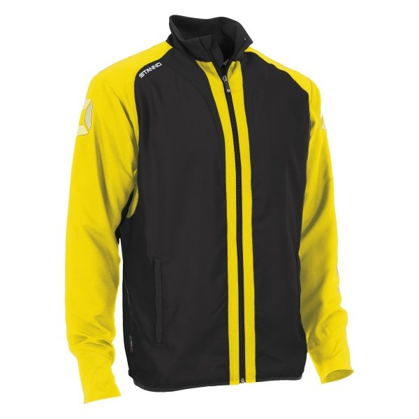 Stanno Riva Woven Jacket Black/Yellow