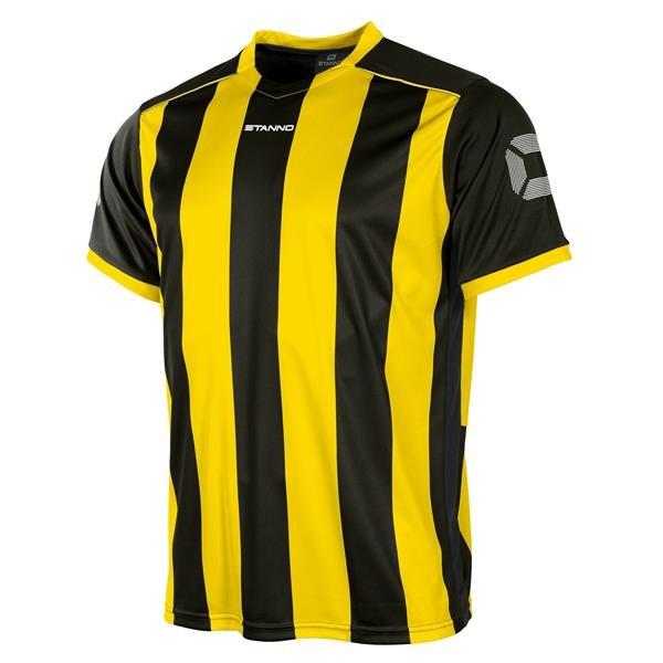 Stanno Brighton Black/Yellow SS Football Shirt