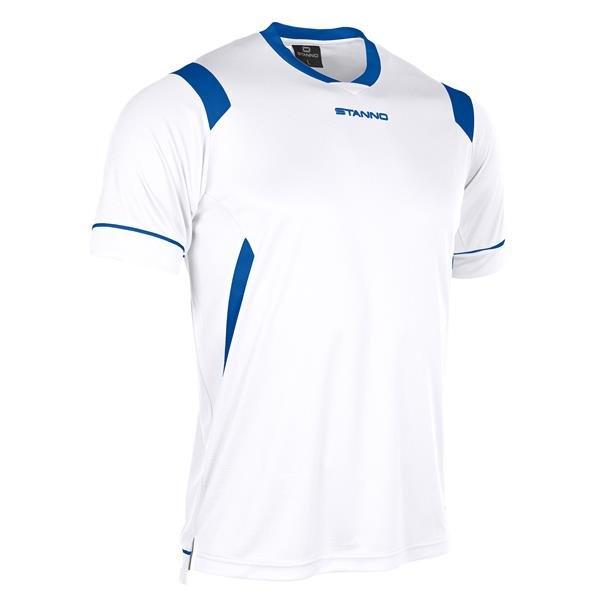 Stanno Arezzo SS White/Royal Football Shirt