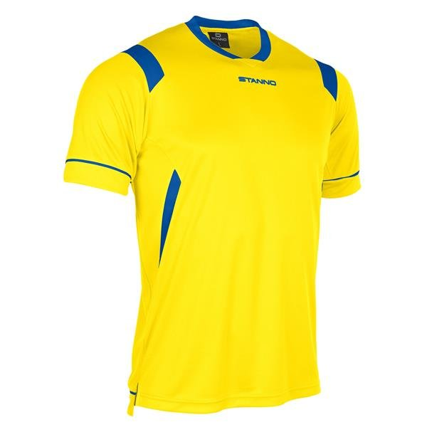 Stanno Arezzo SS Yellow/Royal Football Shirt