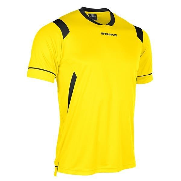 Stanno Arezzo SS Yellow/Black Football Shirt
