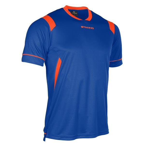 Stanno Arezzo SS Deep Blue/Shocking Orange Football Shirt