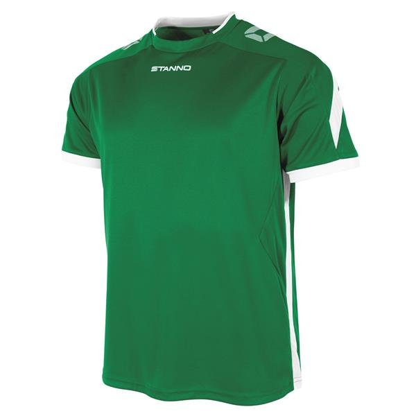 Stanno Drive Green/White SS Football Shirt