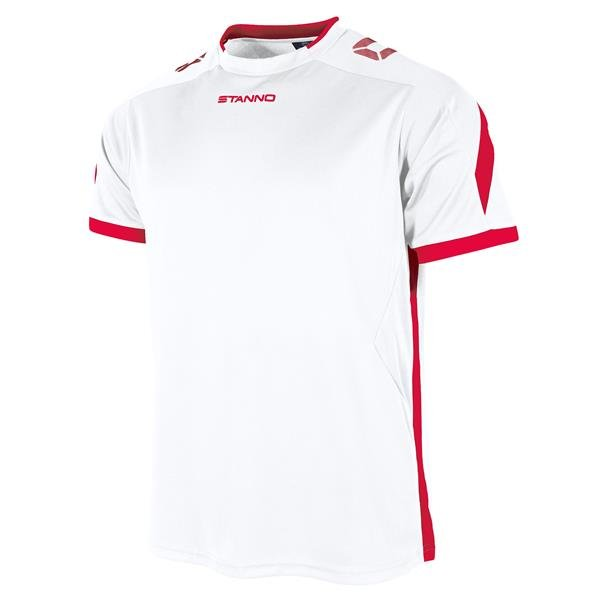 Stanno Drive White/Red SS Football Shirt