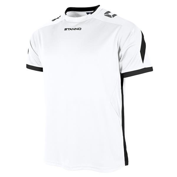 Stanno Drive White/Black SS Football Shirt