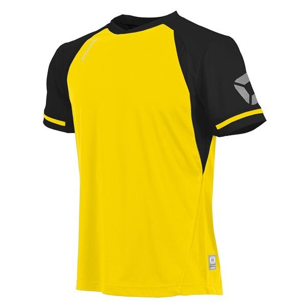 Stanno Liga Yellow/Black SS Football Shirt