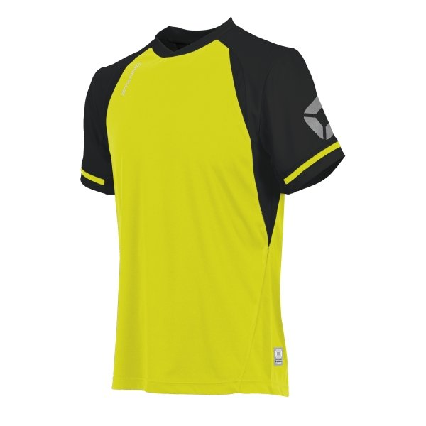 Stanno Liga Neon Yellow/Black SS Football Shirt
