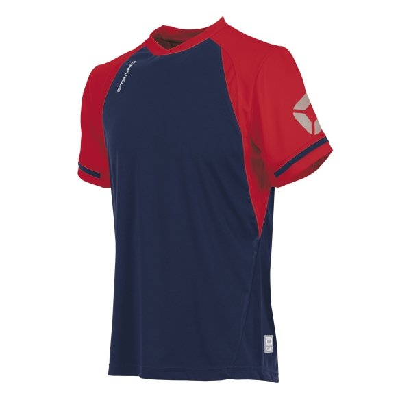 Stanno Liga Navy/Red SS Football Shirt