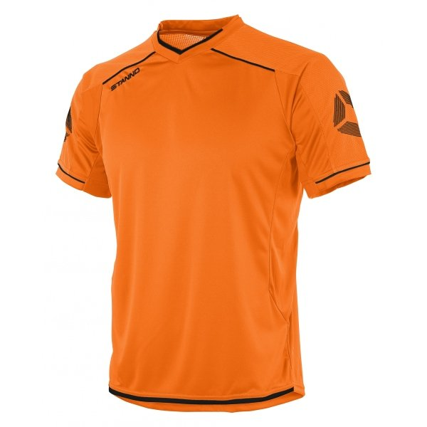 Stanno Futura Orange/Black Short Sleeve Football Shirt