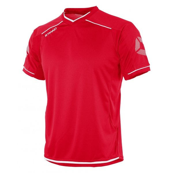 Stanno Futura Red/White Short Sleeve Football Shirt