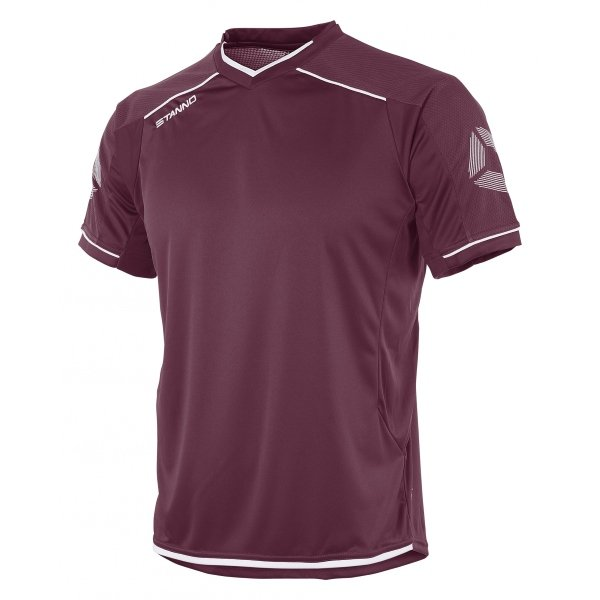 Stanno Futura Maroon/White Short Sleeve Football Shirt