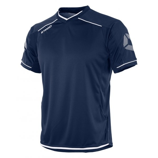 Stanno Futura Navy/White Short Sleeve Football Shirt