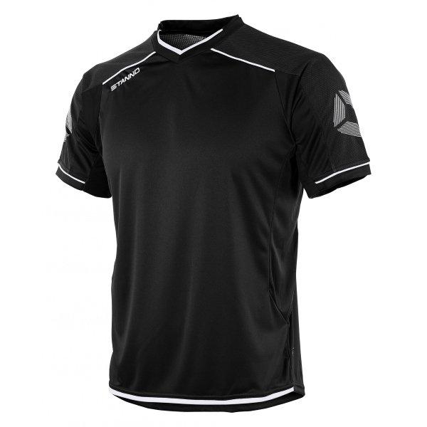 Stanno Futura Black/White Short Sleeve Football Shirt
