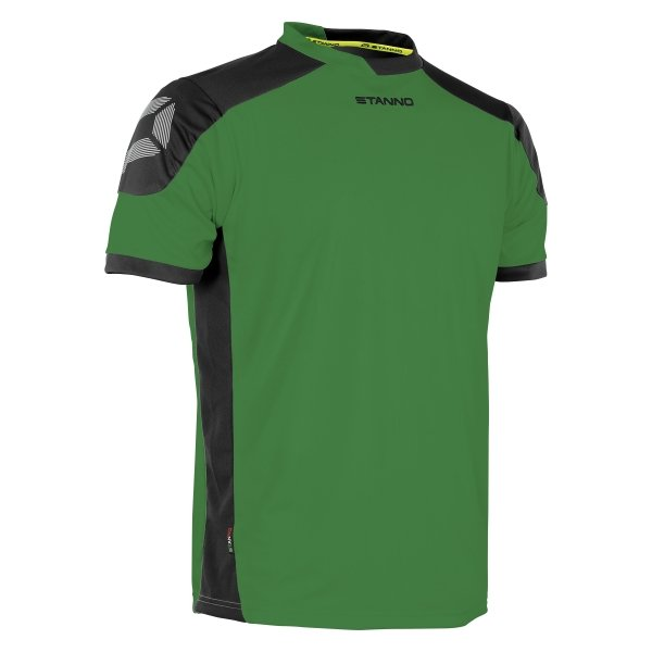 Stanno Campione Green/Black Short Sleeve Football Shirt