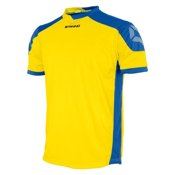 Stanno Campione Yellow/Royal Short Sleeve Football Shirt