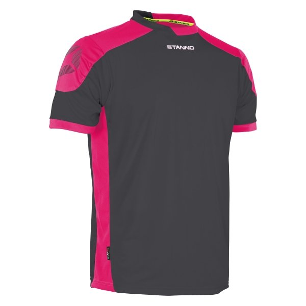 Stanno Campione Anthracite/Pink Short Sleeve Football Shirt