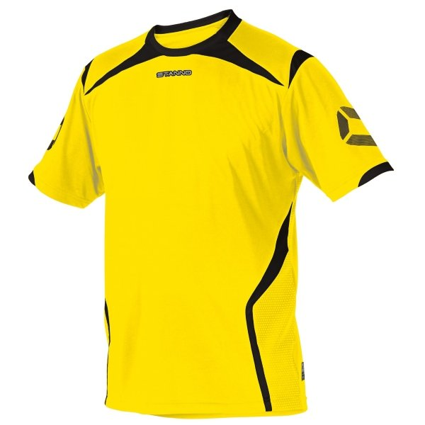 Stanno Torino SS Yellow/Black Football Shirt