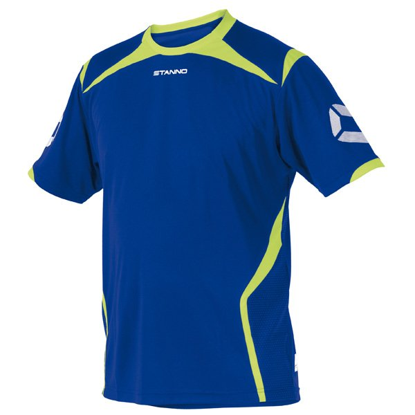 Stanno Torino SS Deep Blue/Neon Yellow Football Shirt