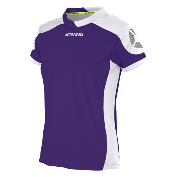 Stanno Campione Short Sleeved Purple/White Ladies Football Shirt