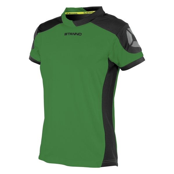 Stanno Campione Short Sleeved Green/Black Ladies Football Shirt