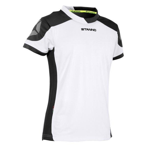 Stanno Campione Short Sleeved White/Black Ladies Football Shirt