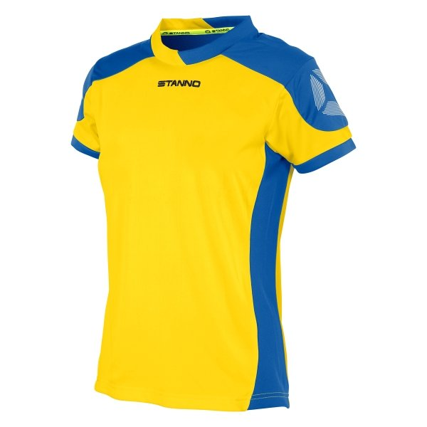 Stanno Campione Short Sleeved Yellow/Royal Ladies Football Shirt