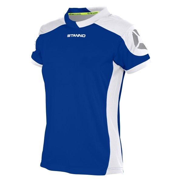 Stanno Campione Short Sleeved Deep Blue/White Ladies Football Shirt