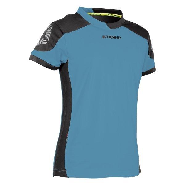 Stanno Campione Short Sleeved Aqua Blue/Black Ladies Football Shirt