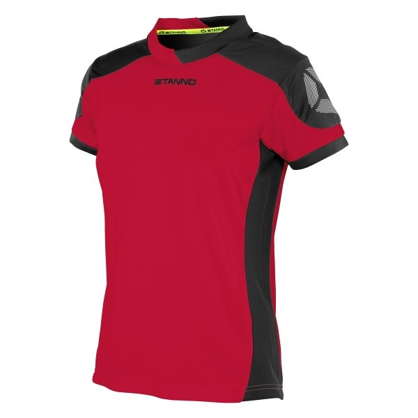Stanno Campione Short Sleeved Red/Black Ladies Football Shirt