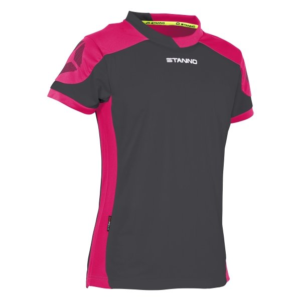 Stanno Campione Short Sleeved Antracite/Pink Ladies Football Shirt