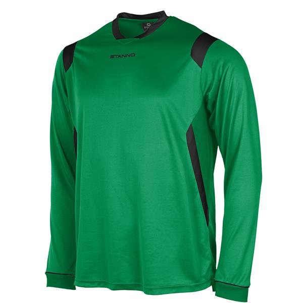 Stanno Arezzo LS Green/Black Football Shirt