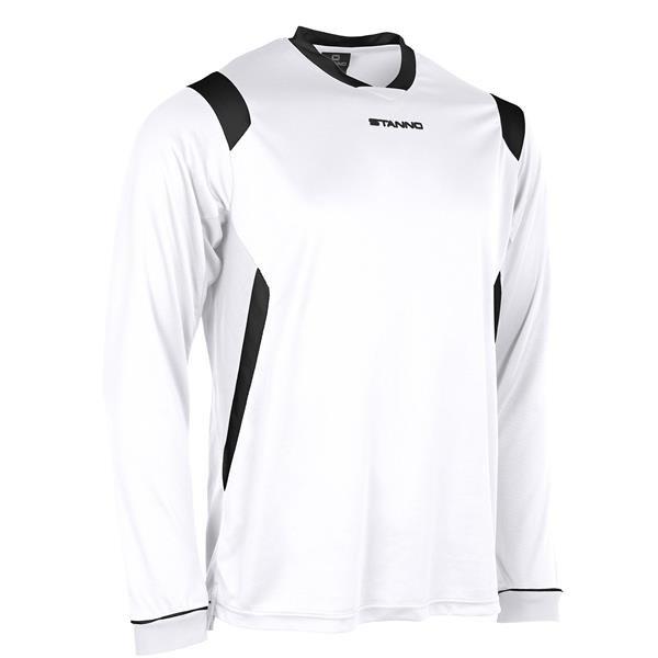 Stanno Arezzo LS White/Black Football Shirt
