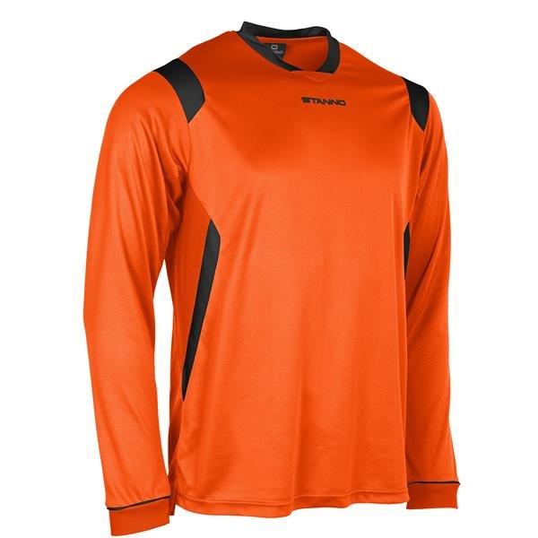 Stanno Arezzo LS Orange/Black Football Shirt