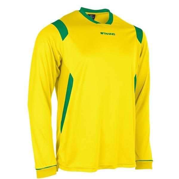 Stanno Arezzo LS Yellow/Green Football Shirt