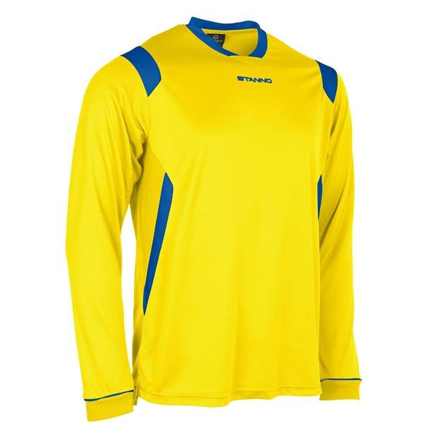 Stanno Arezzo LS Yellow/Royal Football Shirt
