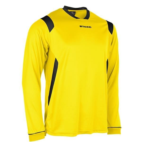 Stanno Arezzo LS Yellow/Black Football Shirt
