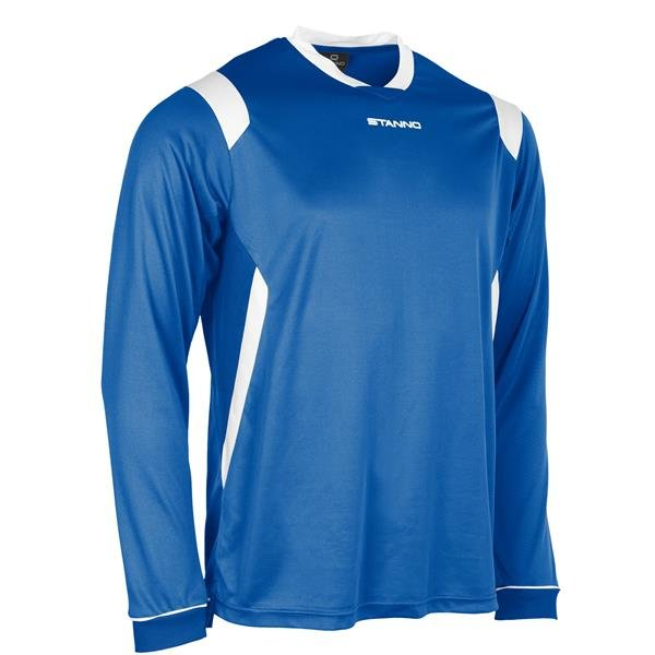 Stanno Arezzo LS Royal/White Football Shirt