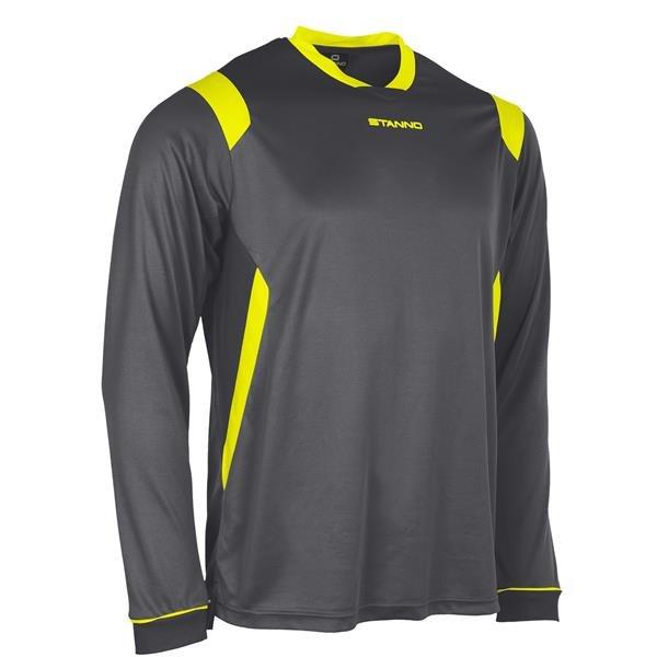 Stanno Arezzo LS Anthracite/Neon Football Shirt