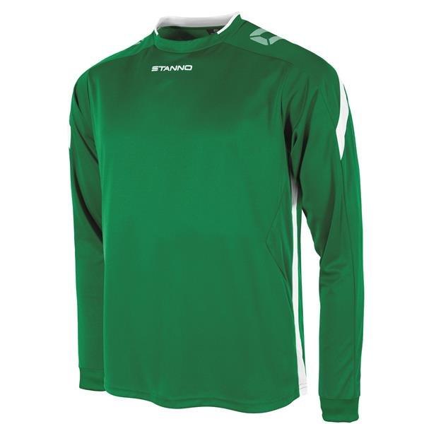 Stanno Drive Green/White LS Football Shirt