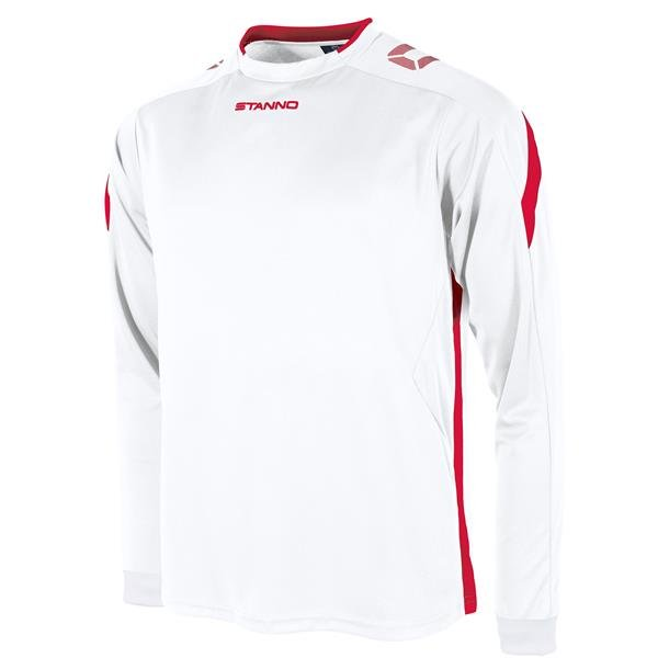 Stanno Drive White/Red LS Football Shirt