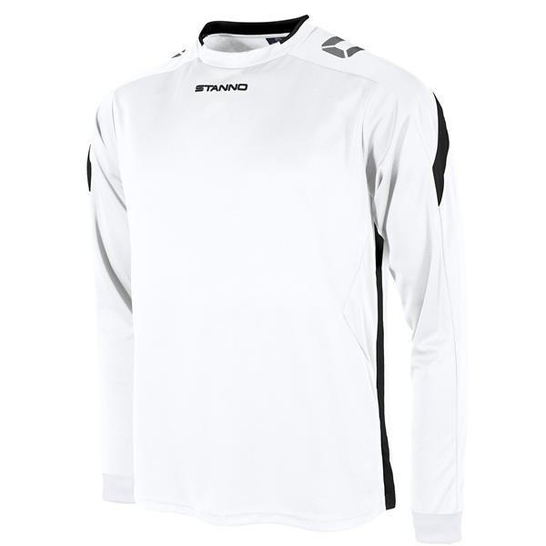 Stanno Drive White/Black LS Football Shirt