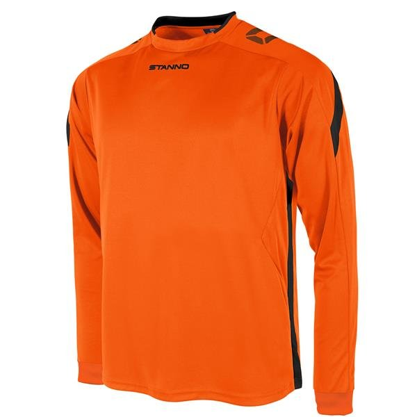 Stanno Drive Orange/Black LS Football Shirt