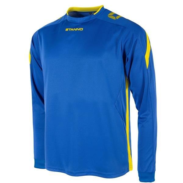 Stanno Drive Royal/Yellow LS Football Shirt